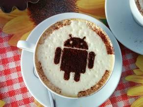 android cacao cappuccino stencil