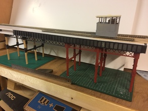 009 GN15 O-16.5 Model railway pier supports