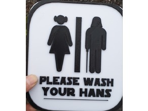Star Wars Bathroom Sign