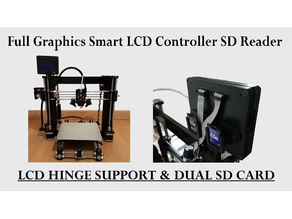 3D Printer Smart LCD Controller Hinge Support Dual SD Card Holder