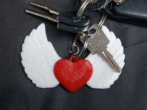 Winged Heart Keychain