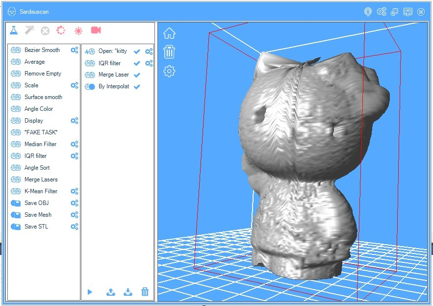 Sub 30$ 3D laser scanner Open harware/software project by