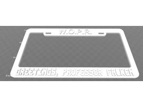 WOPR - Greetings, Professor Falken License Plate Frame