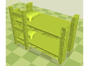 Bunk Bed 28mm for RPG/Dungeon