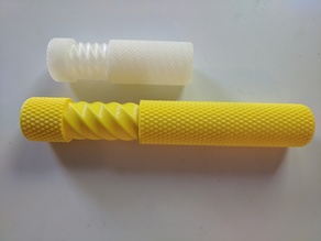 Double Length Knurled Twist Container