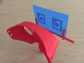 3D Printed 3D Postcard/Sterescopic image