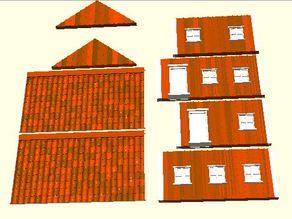 Parametric Miniature Game House  Brick and Lumber