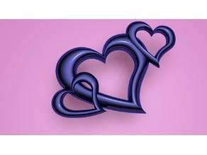 Triple Heart Charm