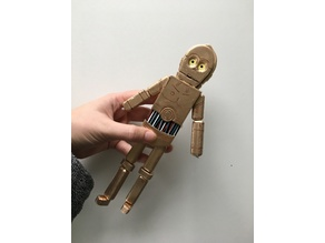 Elastic Strung c3po Doll