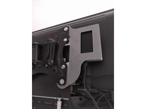 External Hard drive support for VESA TV Stand