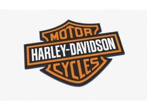 Harley Davidson logo Multi-extrusion