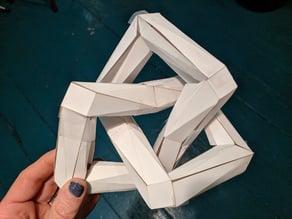 Papercraft trefoil knot
