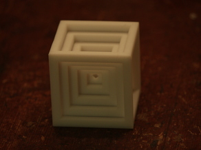 A descending cube