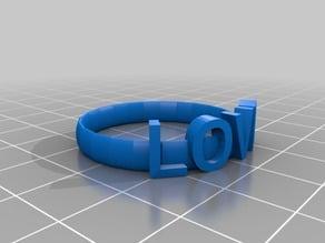 """LOVE"" ring"