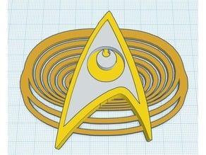 USS Armistice 2d6io Star Trek Communicator Badge