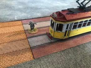 Laser Cut Tram Tracks