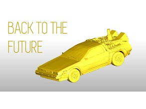 Printable DeLorean DMC-12 - Back to the future - onroad
