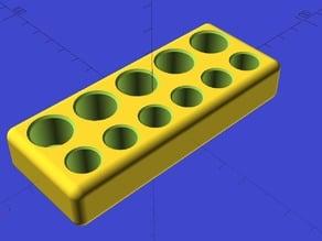 Ekobots - Battery organizer 5x AA, 6x AAA.