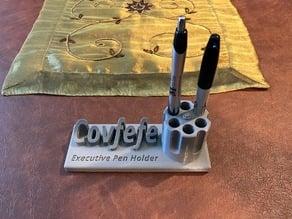 Covfefe Revolver Cylinder Pen Holder