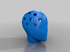 Human head vase