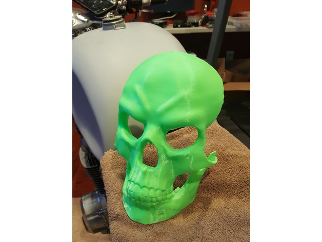 Evil Skull Mask (no supports) by kencam - Thingiverse