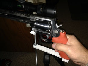 tripod mount pistol shelf with integrated 1/4-20 nuts
