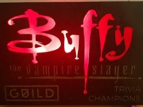 Glowing Buffy logo