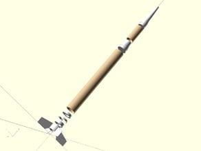 Estes Beta Launch Vehicle #2054 Plastic Parts