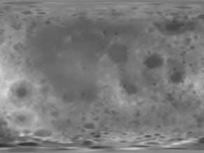Moon Relief Map