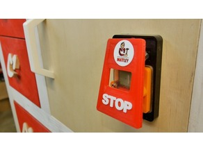Emergency quick stop button for tools