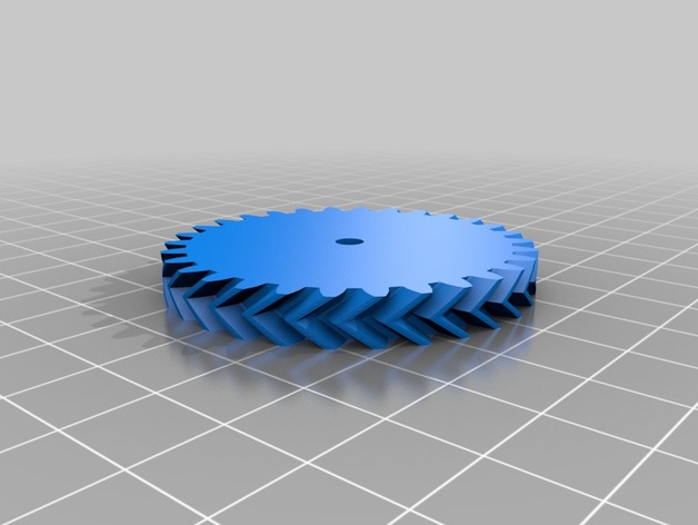 Double Helical Gear OpenSCAD generator (requires importing a