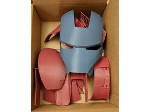 Iron Man Mark III Helmet Separated and Oriented
