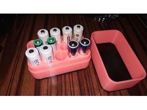 Battery Case 10 AA - 4 AAA