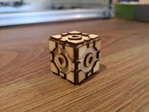 Laser Cut Companion Cube (Portal)