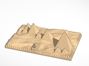 Traditional view of pyramids of Giza  MORE PRINTABLE plastic and ceramics