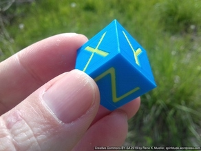 Dual Color XYZ 20mm Hollow Calibration Cube (0% infill possible)