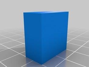 Rectangular prism mineral model