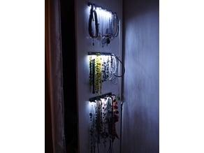Necklace holder/hanger with illumination