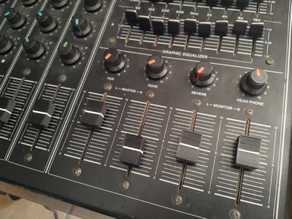 Audio mixer desk button/slider