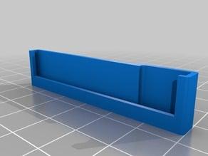 8-LED Neopixel Stripe holder (OpenScad), 2 mount versions, fully parametric
