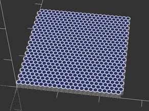 OpenScad hex grid generator