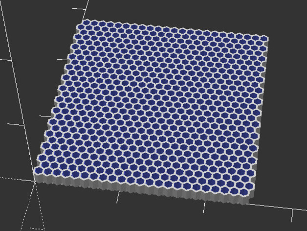OpenScad hex grid generator by ggrieves - Thingiverse