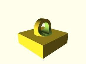 duplo block with loop for crane hook