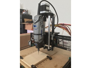 CNC Z axis with Dremel 3000 mount