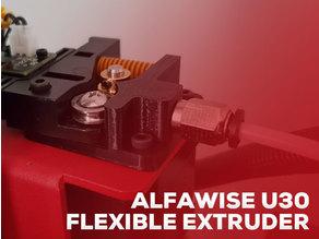 Alfawise U30 Flexible filament TPU extruder mod