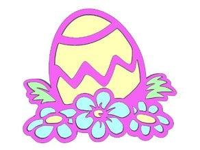 Easter Egg & Flowers