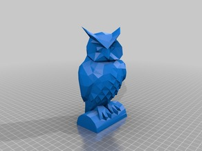 Low poly Owl (some feathers still visible)