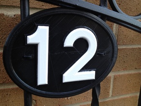 intensewalkera House Number 12 name plate