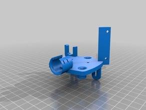 Creality Ender X Carriage + EZABL 40mm FAN E3D Hotend upgrade mod