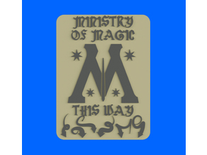 Ministry Of Magic This Way, bathroom sign